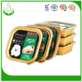 Eight side sealed dog food packaging , pet food plastic bag