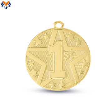 Custom gold metal ranking medal