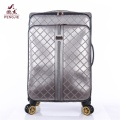 High Quality Waterproof PU Customized 4 Wheels Luggage