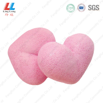 Cute heart sponge bath item