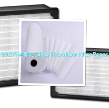 China for Fiberglass Filter Media 99.97%(H13) Glass Microfiber Filter Paper supply to Argentina Factory