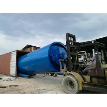 45% oil output waste tyre pyrolysis machine