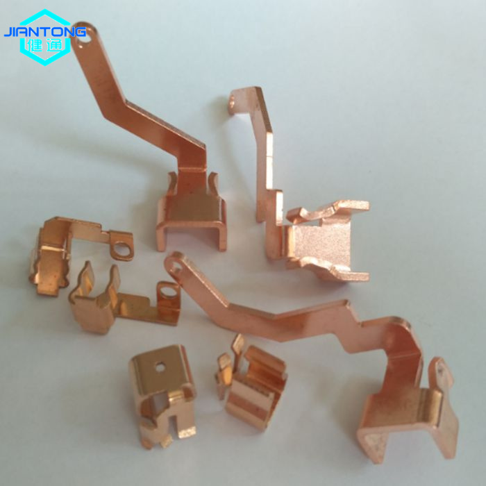 custom copper stamping contact small precision stamping part (1)