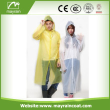 Fashion PE Emergency Raincoat for Adult