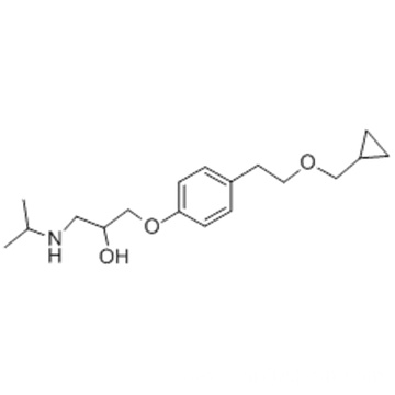2-Propanol,1-[4-[2-(cyclopropylmethoxy)ethyl]phenoxy]-3-[(1-methylethyl)amino]- CAS 63659-18-7