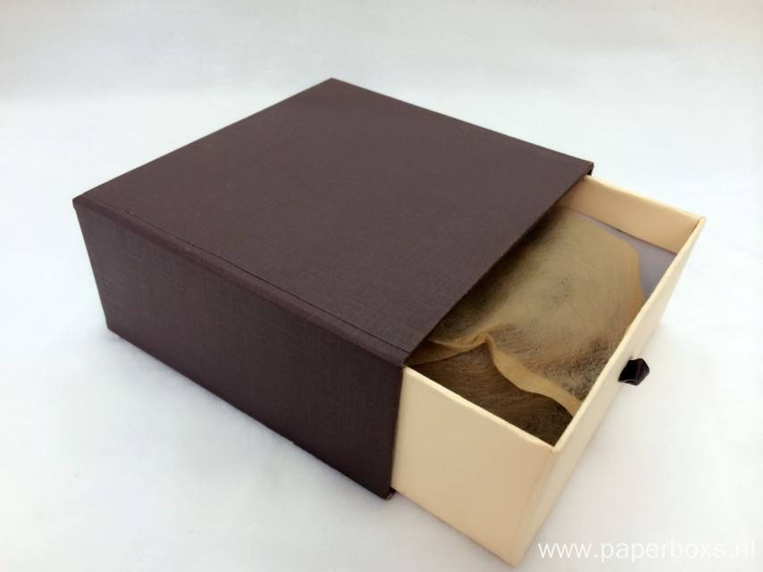 Sliding Shape Tea Cardboard Box With Paper Sleeve