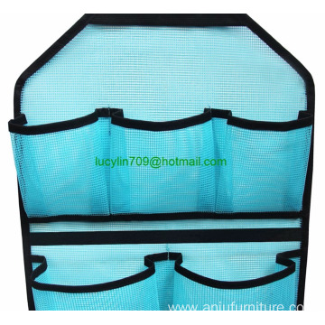 Mesh Bathroom Shower Organizer with Rotatable Hanger (Blue)