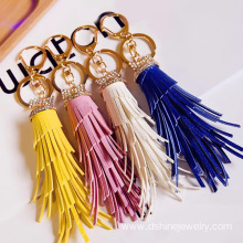 Customized Wholesale Craft Leather Tassel Keychain Design