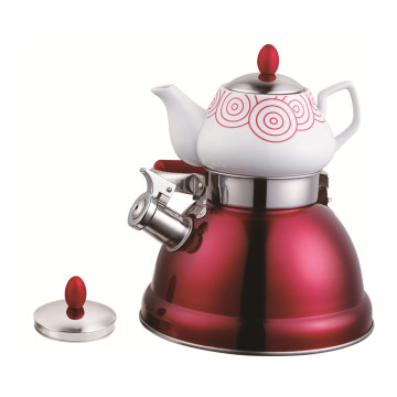 Household Double Tea Pot Elegant Red Serious