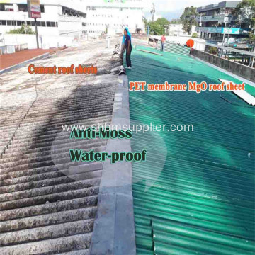 Free of Asbestos Heat-insulating Durable MgO Roofing Sheets