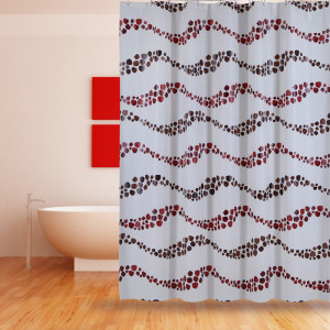 Manufacturer of for China Shower Curtain Peva,Peva Shower Curtain,Clear Shower Curtain Supplier Shower Curtain PEVA Brown Dot supply to Burkina Faso Factories