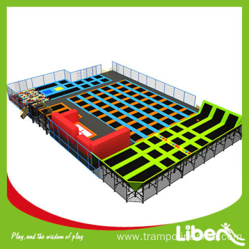 extra large indoor rectangular trampoline exercise