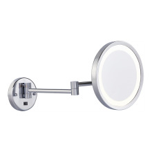 Dual-arms extending wall makeup mirror