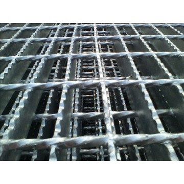 Steel grating processing production