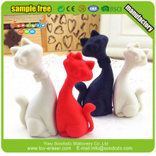 Wholesale 3D cat shaped puzzle rubber eraser