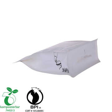 Good Seal Ability Block Bottom Biodegradable Tea Packaging