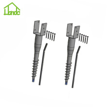 Galvanized Ground Screw with U Shape Bracket