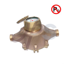 Lead free bronze Awwa Water Meter with Brass or Bronze Body