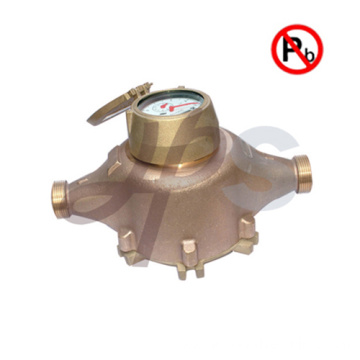 Free lead bronze AWWA multi jet water meter