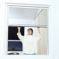 Retractable window with aluminum frame 0917