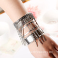 Classical Multi Chains Tassel Cuff Initial Bangle For Lady