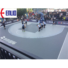 FIBA Approved Soft Flooring Basketball Interlocking Tiles