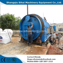 Waste tire cracking machine