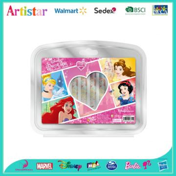 DISNEY PRINCESS 10 piececs crayons