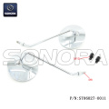 Mirror Chrome  M8 with M10 adaptor for Vespa (P/N:ST06027-0011) Top Quality