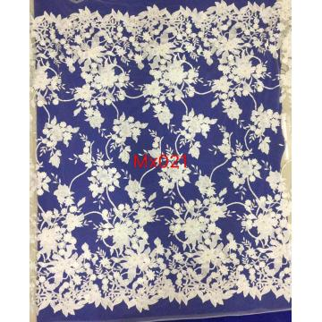 Indian Net Lace Fabric Embroidery