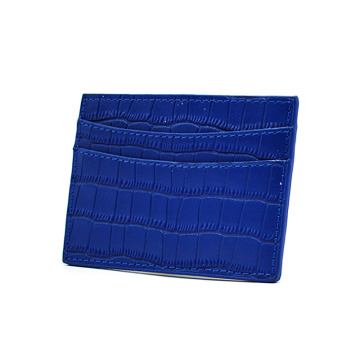 Custom Men Crocodile Leather Business Credit Card Holder