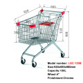 Cheap European chrome metal shopping cart trolley