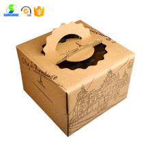 Customised Printed Carton Cake Box With Handle