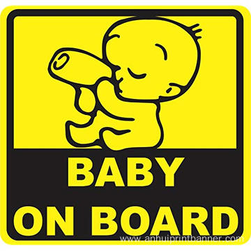 Custom Magnet Baby on Board Car Reflective Sticker