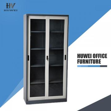 Sliding glass door office bookcase metal file cupboard