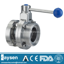 DIN/RJT Sanitary Butterfly Valves Male and Nut
