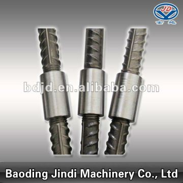 Parallel threaded rebar coupler