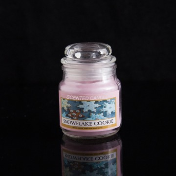 private label glass candles with lids for decoration