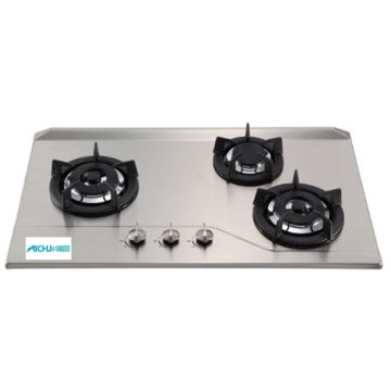 3-Burner Built-in Gas Hob Stainless Steel