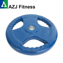 25KG Tri-grip Rubber Coated Olympic Weight Plate