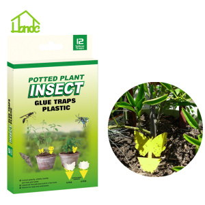 Yellow Sticky  Potted Plant Insect Glue Trap