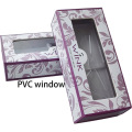 Custom Glossy Purple Lash Box with Clear Window