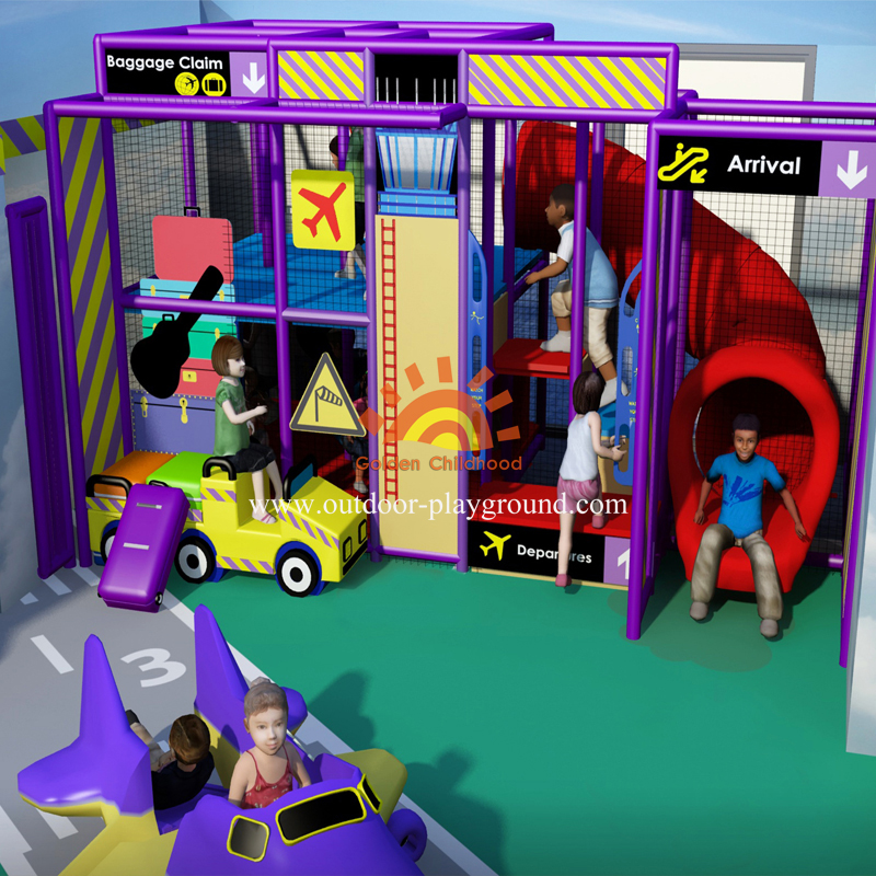 Airport Themed Indoor Playground For Kids