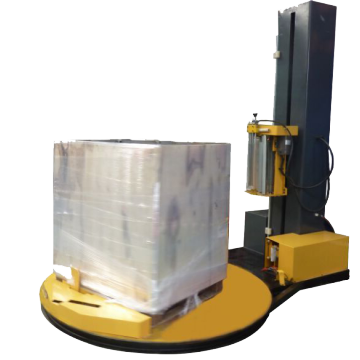 pallet stretch wrapping machine with 250% pre-stretch