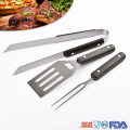 4 piece BBQ Grill Tools Set Stainless Steel