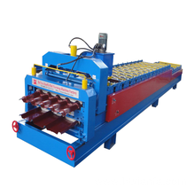 China for Glazed Double Deck Making Machine Color Steel Roofing Double Deck Roll Forming Machine supply to Tanzania Importers