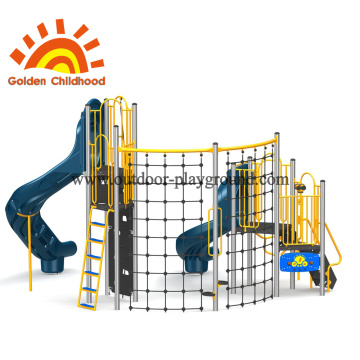 Multiply Climbing Structure With Blue Tube