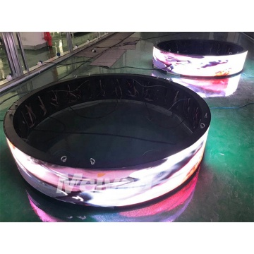 Flexible indoor curve LED display screen