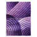 Polyester with Purple Color 3D Shaggy Rug