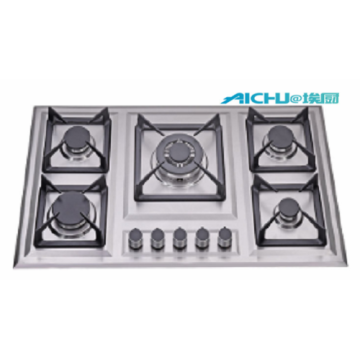 Built-in 5 Burners Gas Stove With S.S